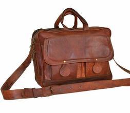 "15""Leather messenger 1pc bag laptop bag computer case should"