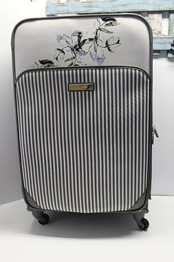 Vince Camuto 28-inch Spinner Luggage Floral Grey Expandable