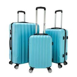 3 Pcs Luggage Travel Set Bag ABS Trolley Suitcase w/ Wheel C