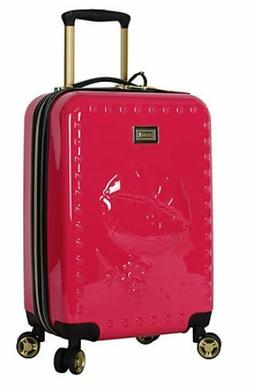 """BETSEY JOHNSON 26"""" BIG KISS SPINNER LUGGAGE SUITCASE CARRY"""