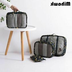 6Pcs/Set Flamingo Pattern Travel Bags Women's Waterproof Tra