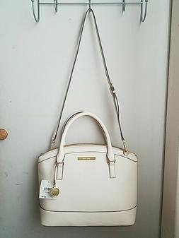 AUTHENTIC ANNE KLEIN Off White Large Dome Hardshell Satchel/