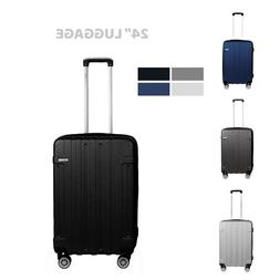 """Cabin Suitcase Carry On ABS 4 Spinner Wheels Hard Shell 24"""""""