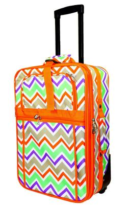 Chevron Carry On Luggage Suitcase Travel Small Rolling Wheel