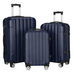 Classy 3 Pcs Luggage Travel Set Bag ABS Wheels 360°Rolling