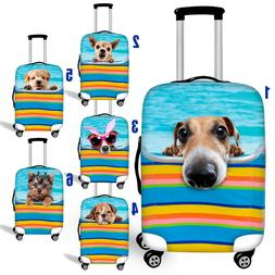 Cute Dog Dust-proof Case Womens Mens Luggage Covers Suitcase
