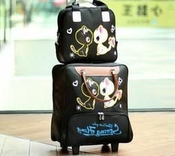 Fashion Women Trolley Luggage Rolling Suitcase Travel Hands