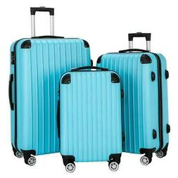 Hardside 3 x Luggage Set Travel Bag ABS Trolley Spinner Suit