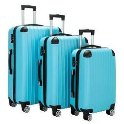Hardside 3Pcs Luggage Set Travel Bag ABS Trolley Spinner Sui