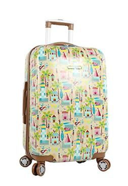 """Lily Bloom Hardside Luggage 24"""" Design Pattern Spinner Suitc"""