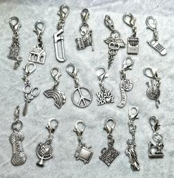 Home Crafts Patriotic Clip-on Charms for Backpack Purse Zipp