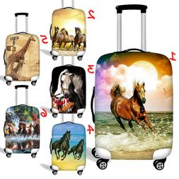 Horse Womens Suitcase Protect Cute Luggage Cover Case Dust-p