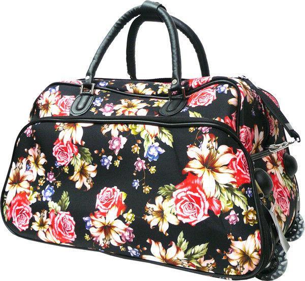 "Women's Rose Print 21"" Suitcase Garment"