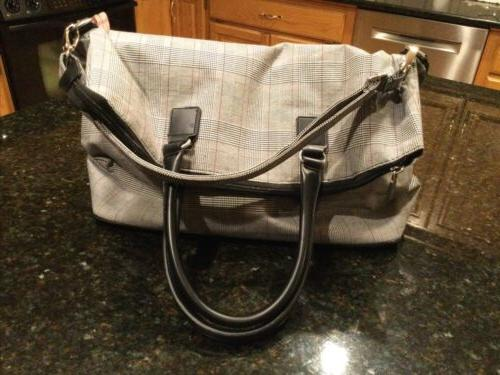 ANNE Carry-On/Tote Bag Black, Red Plaid