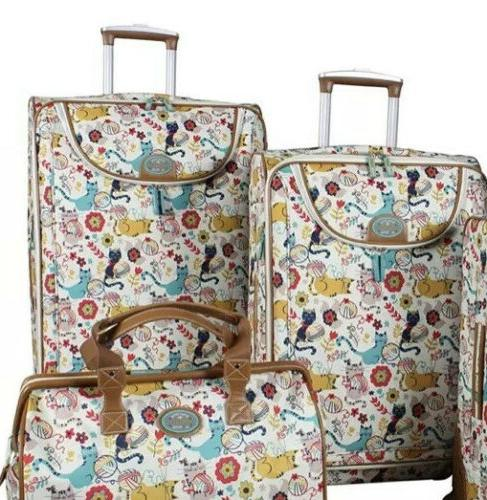 furry friends luggage set 2 piece collection