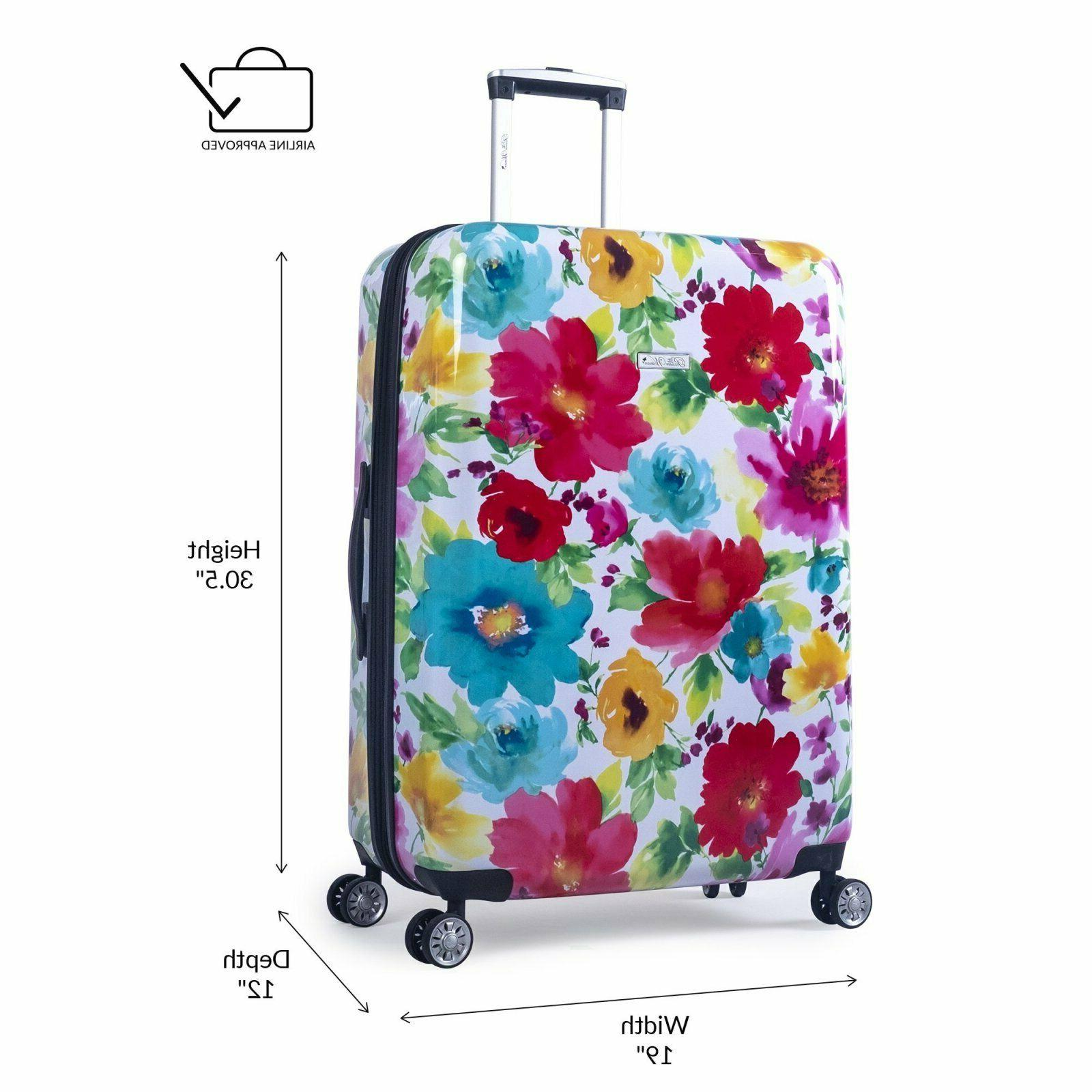 """Hardside 28"""" Blossom double wheels Floral"""