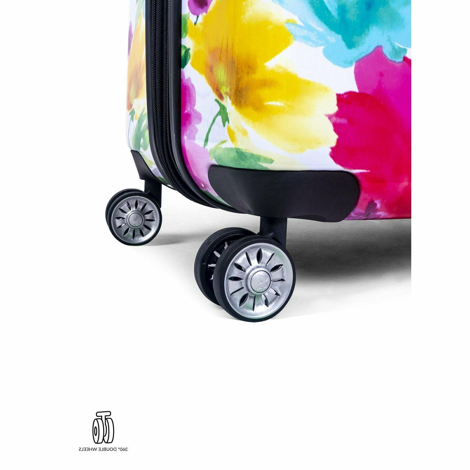Hardside Blossom Lightweight 4 double wheels Floral Travel