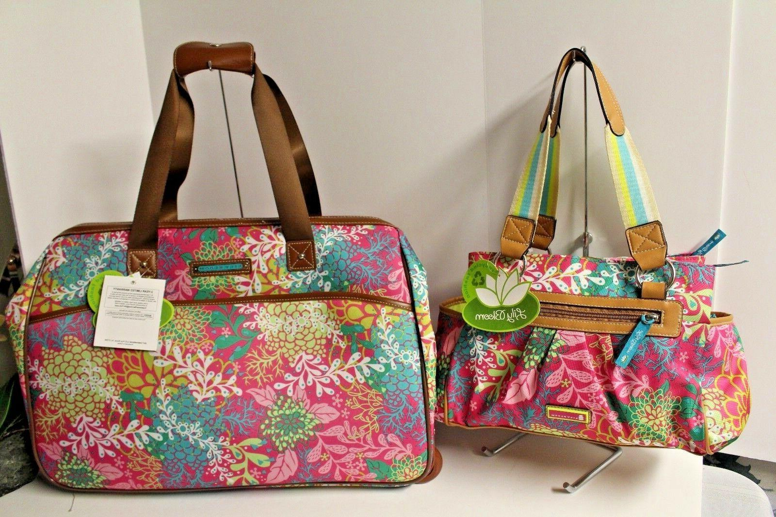 luggage designer pattern suitcase wheeled duffel carry
