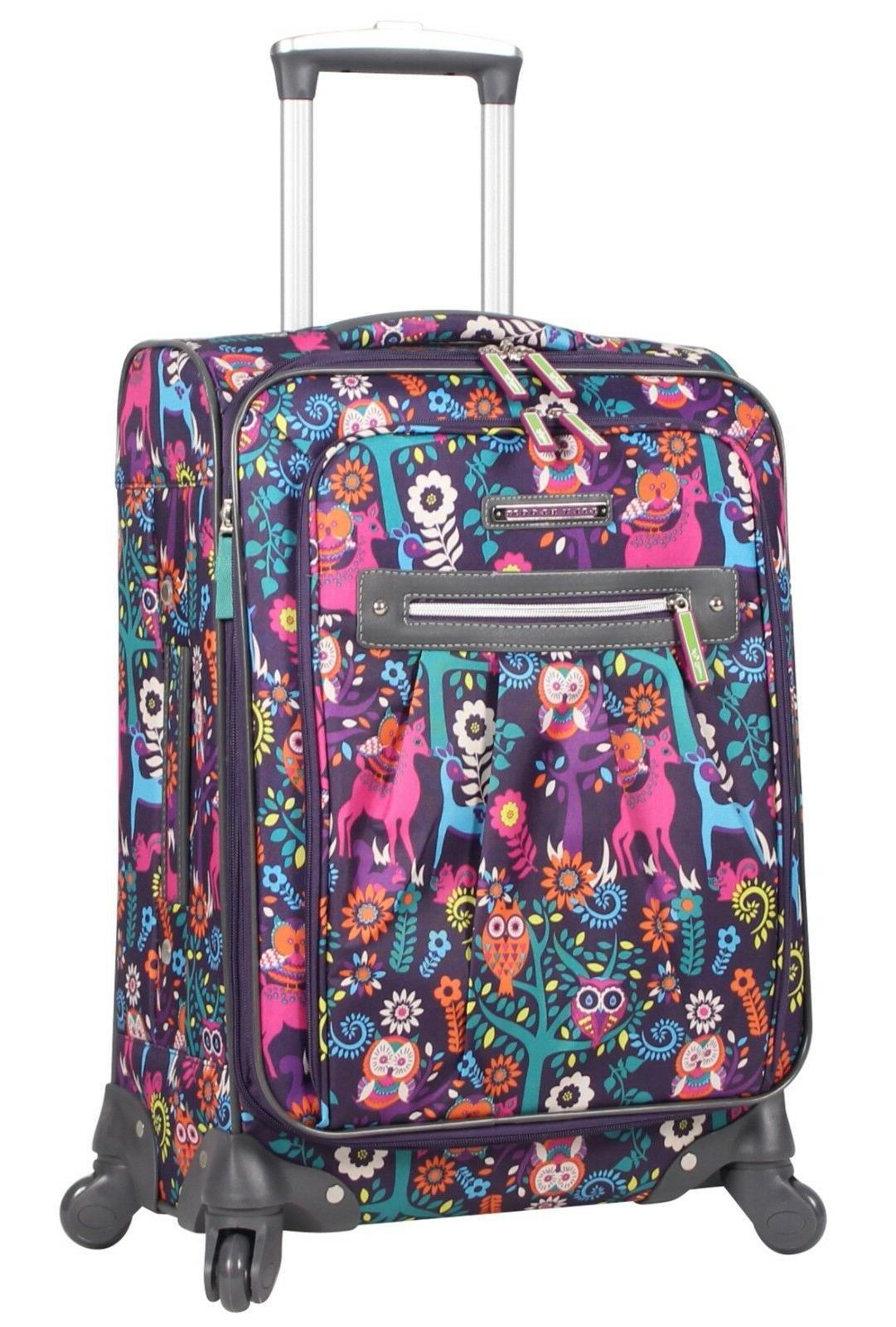 luggage large expandable design pattern suitcase