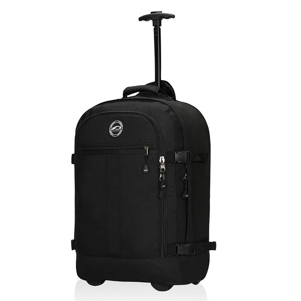 men women carry on travel trolley backpack