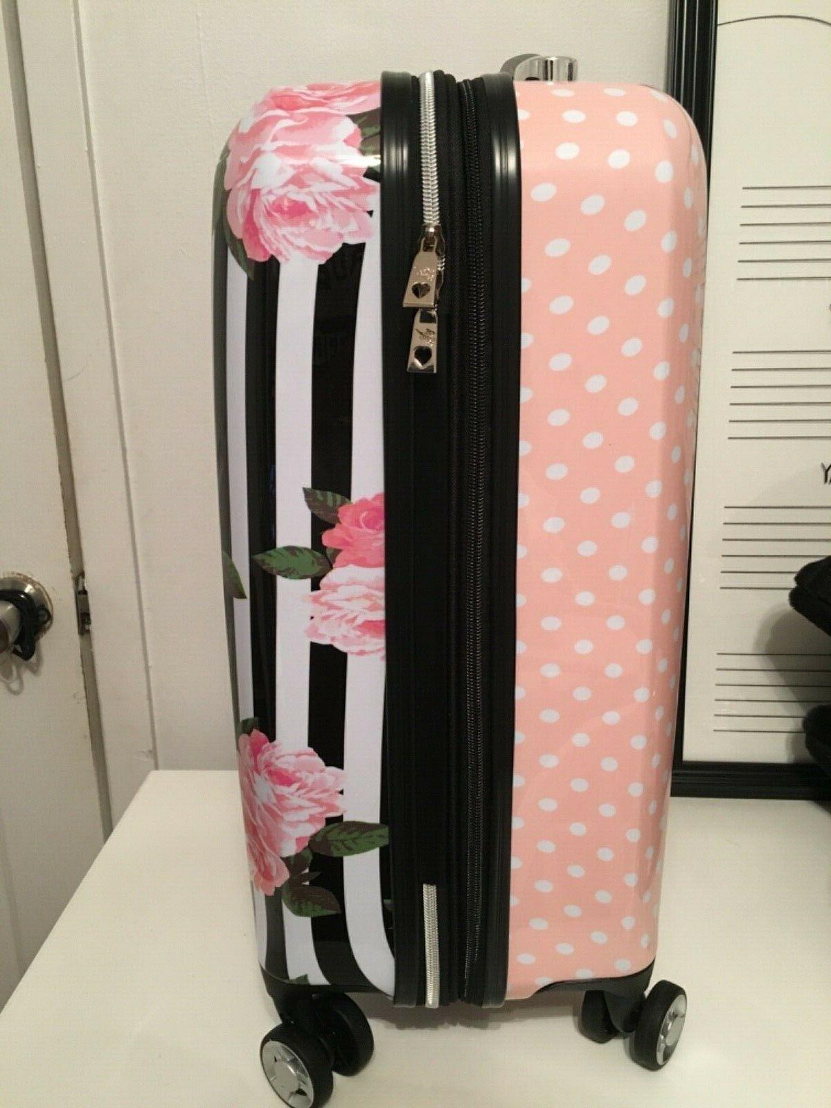 """NWT Betsey Johnson 20"""" Pink White Striped"""