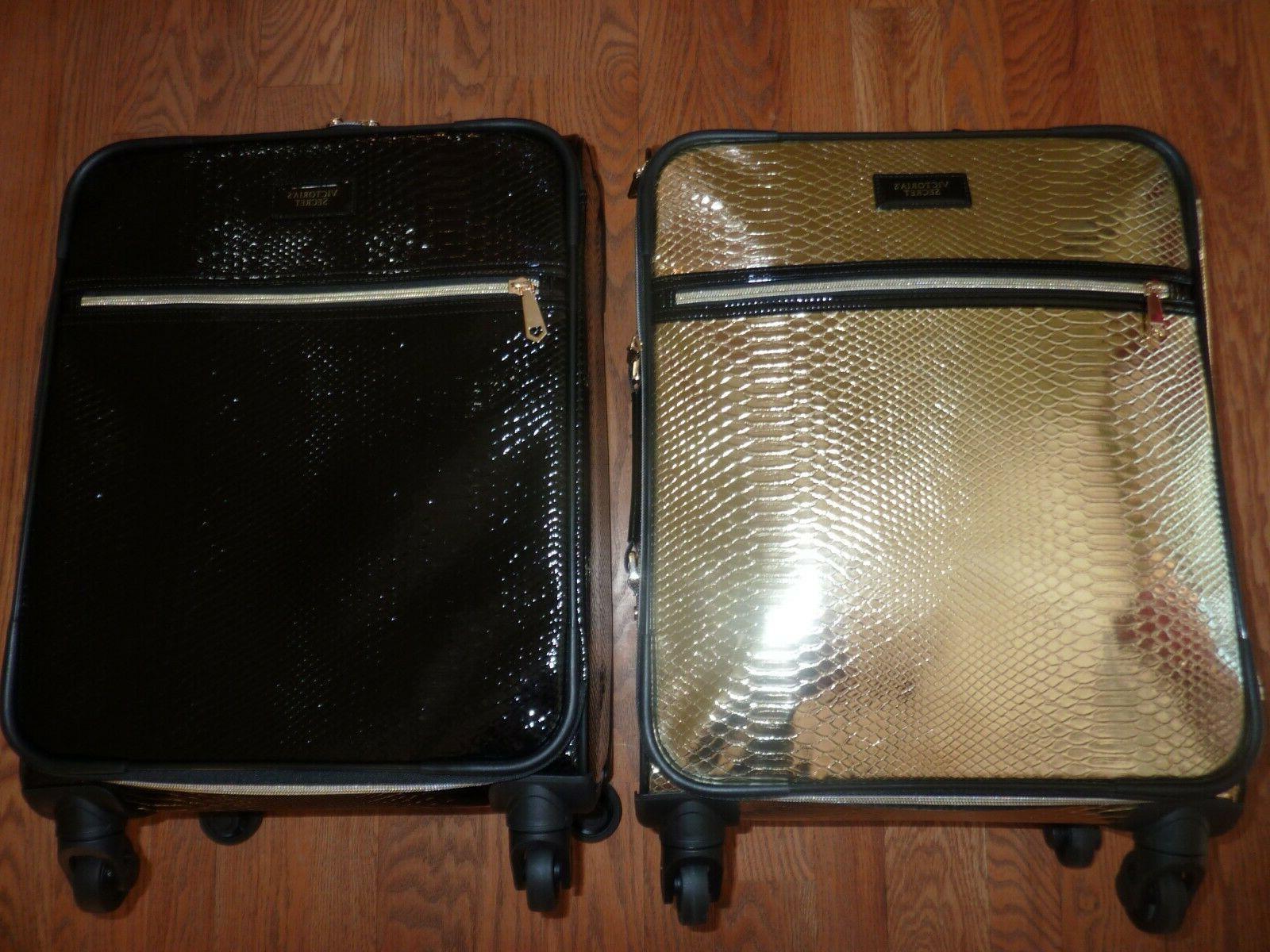victorias secret supermodel python luggage wheelie suitcase