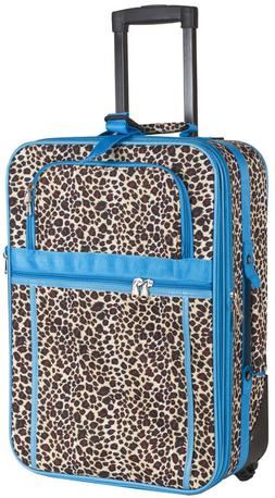 Leopard Print Carry On Luggage Suitcase Travel Small Rolling