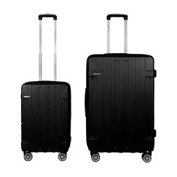 Luggage Carry On Set x2 Travel Suitcase ABS 4 Wheels Spinner