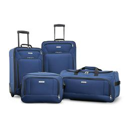Luggage Set Navy Blue Travel Wheeled Suitcase Bag Carry On A