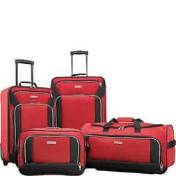 Luggage Set With Wheels Red Man Woman Travel Suit Case Bag C