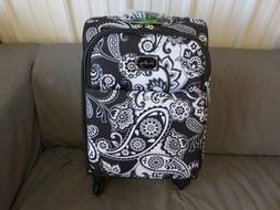 "Vera Bradley Midnight Paisley 22"" Spinner Suitcase Luggage--"