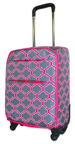 Moroccan Carry On Spinner Luggage Suitcase Rolling Wheeled L
