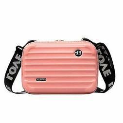 Nano Carry On Purse Mini Hard Suitcase Cosmetic Case Crossbo