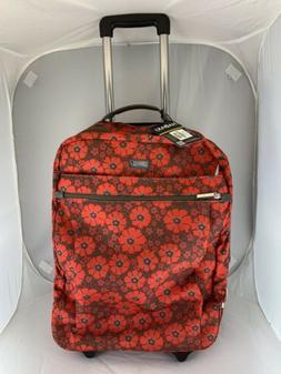 New $199 Hadaki HDK879 Chevron Plane Kalencom Roller Suitcas