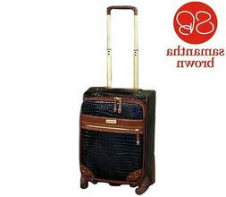 """New Samantha Brown 22"""" Croco Embossed Upright Spinner Suitca"""