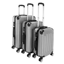 """New 3PCS 20/24/28"""" Luggage Travel Bag ABS Trolley Hard Shell"""