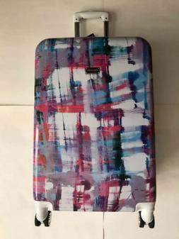 NEW Steve Madden Plaid 24 Expandable Hardside Plaid Suitcase