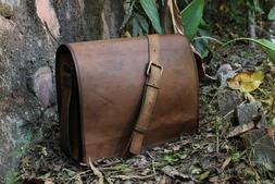 NEW Satchel Briefcase Bag Vintage Crafts Leather Messenger M