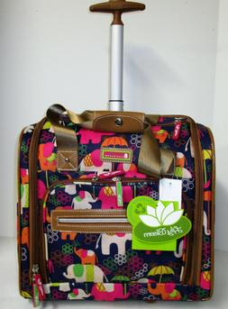 NEW Lily Bloom Under Seat Rolling Carry-On Luggage: Elephant