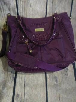 Samantha Brown PURPLE Croco Embossed Carry on Luggage Suitca