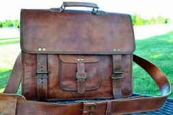 Real Leather messenger bag laptop bag computer case shoulder
