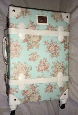 Unitravel Retro Luggage 20 inch Women Suitcase with Wheels F