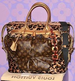 Louis Vuitton Sprouse Monogram STEAMER Leopard Pony Snakeski