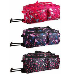 Chervi Suitcase Holdall Travel Bag Luggage With Wheels Women