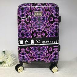 "BeBe Suitcase Luggage Amy Multi Color Black Purple 21"" Carry"