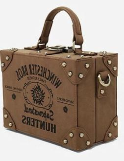 Supernatural Hunters Brown Suitcase Bag Trunk Purse Crossbod