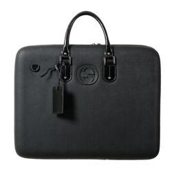 Gucci Unisex Black Leather Suitcase Bag