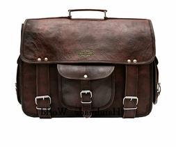 USA Vintage Craft Leather Messenger Satchel Leather Men's Br