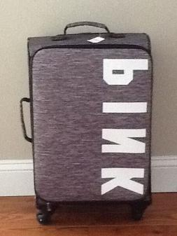 VICTORIA'S SECRET PINK SPINNER GREY CARRY-ON SUITCASE LUGGAG
