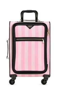 Victoria's Secret Luggage Suitcase Signature Stripe Carry On